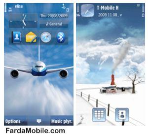 تم موبایل سری ۶۰ ویرایش ۵ – Aviator & Dream snow